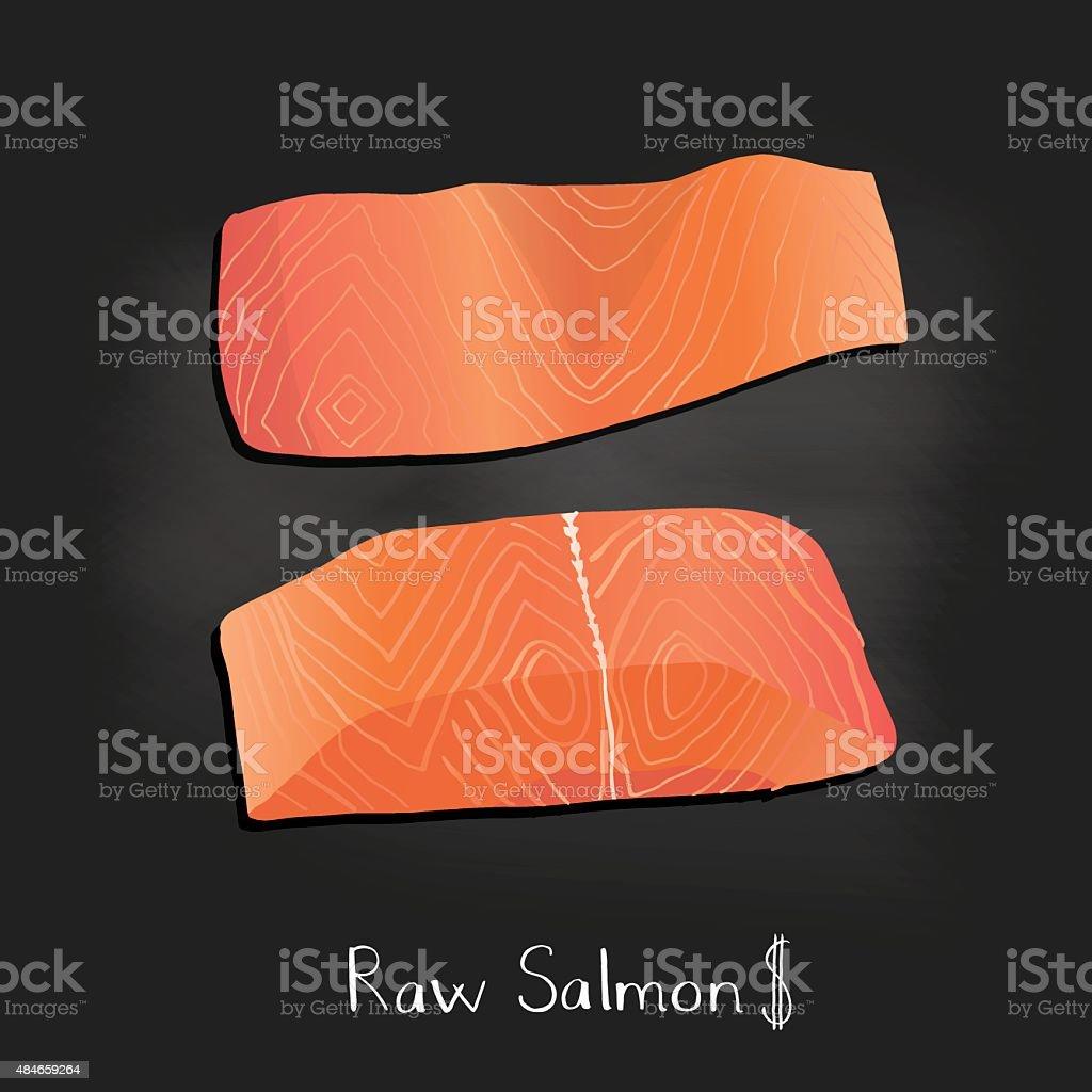 Seafood poster chalkboard. Hand drawn vector illustration. vector art illustration