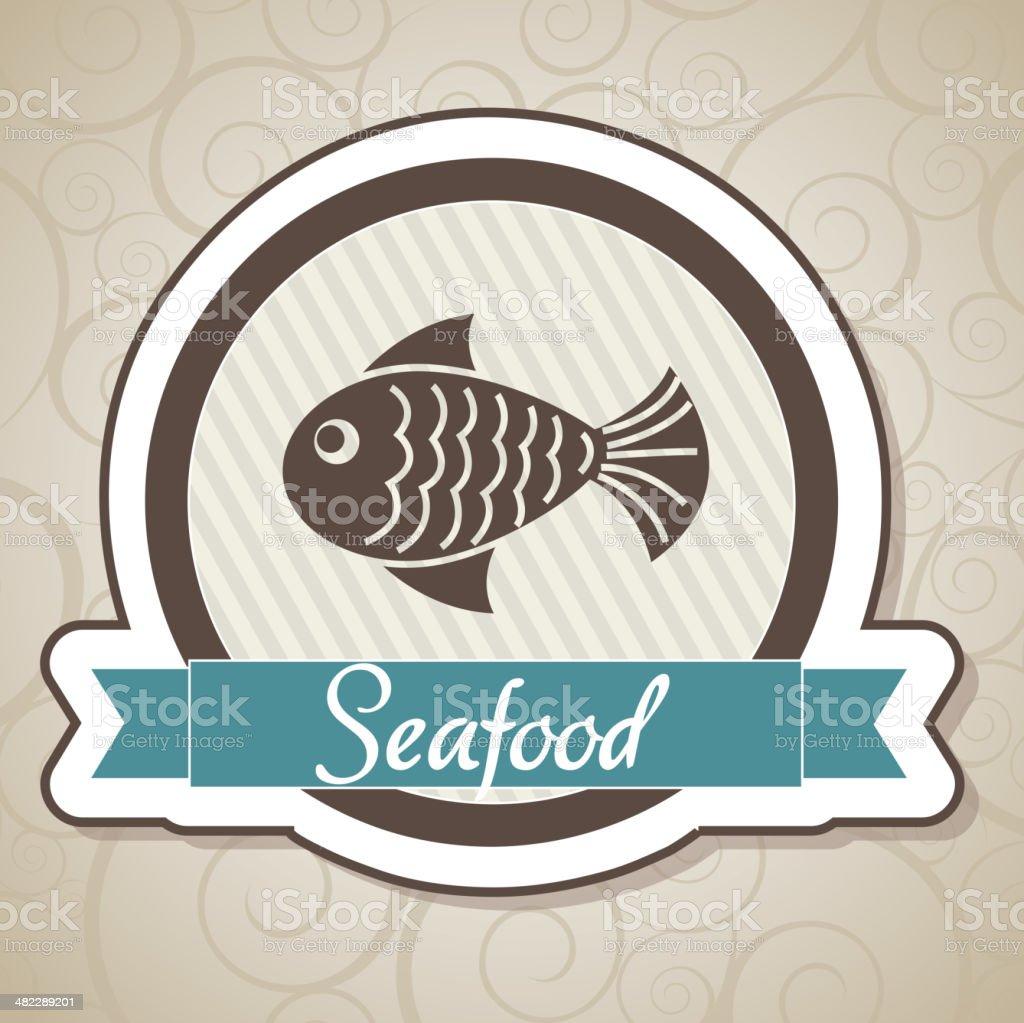 SeaFood vector art illustration