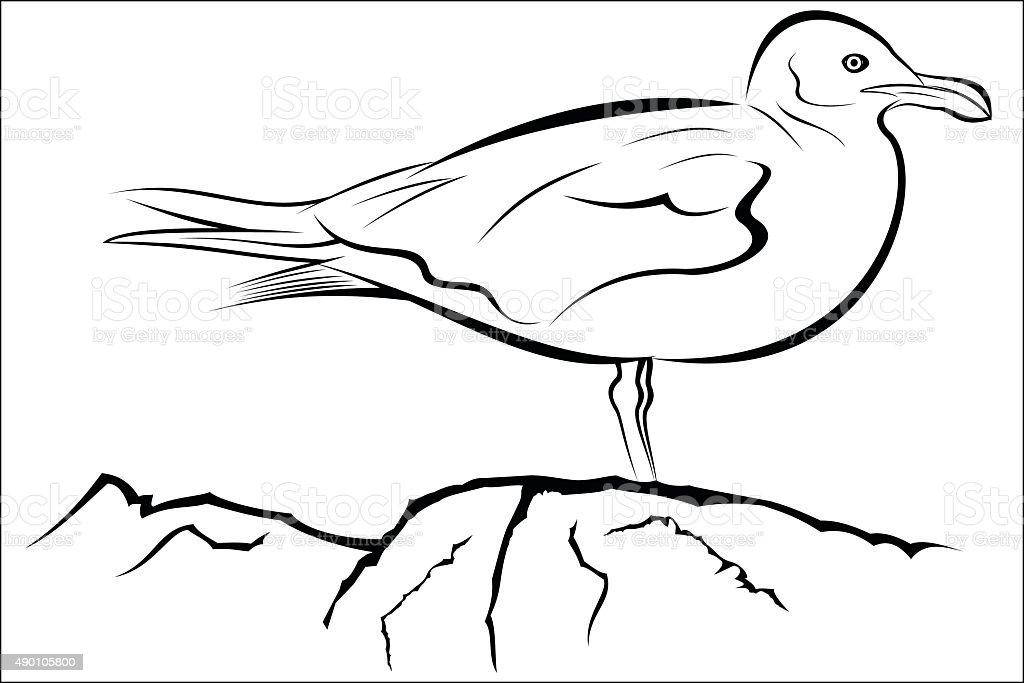 Seagull royalty-free stock vector art