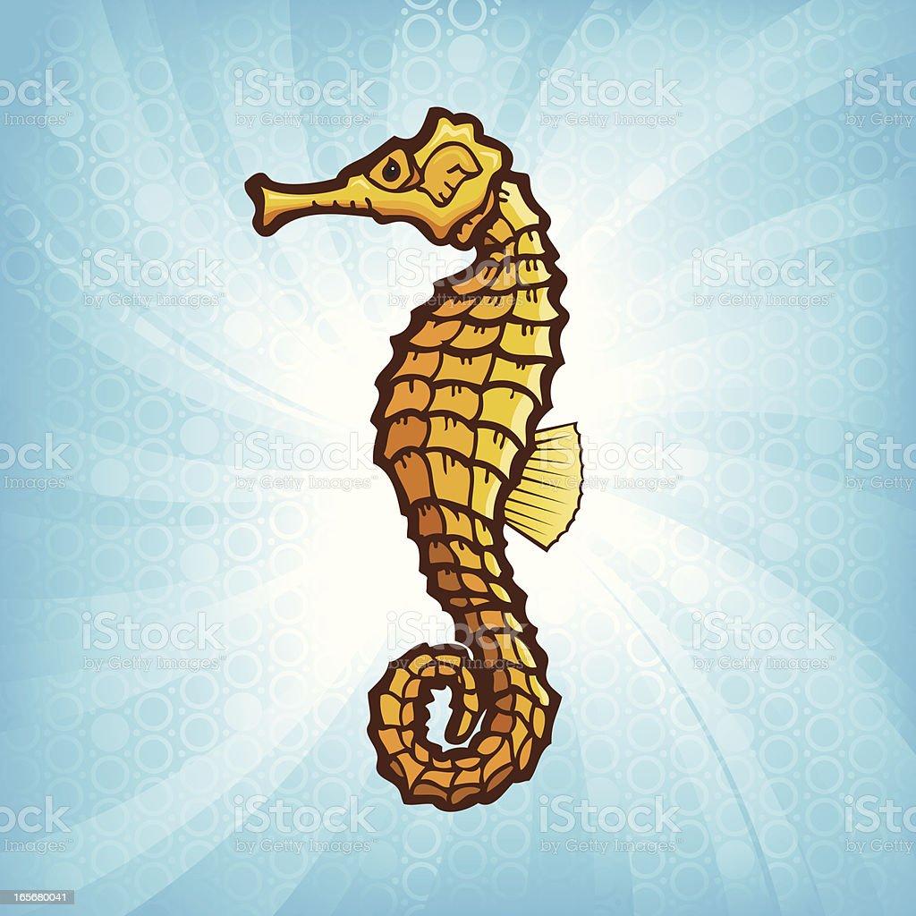 Seahorse Burst royalty-free stock vector art