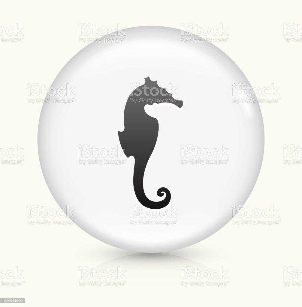 Seahorse icon on white round vector button vector art illustration