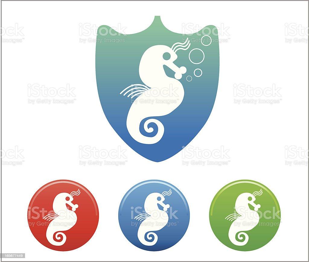 Seahorse Icon vector art illustration