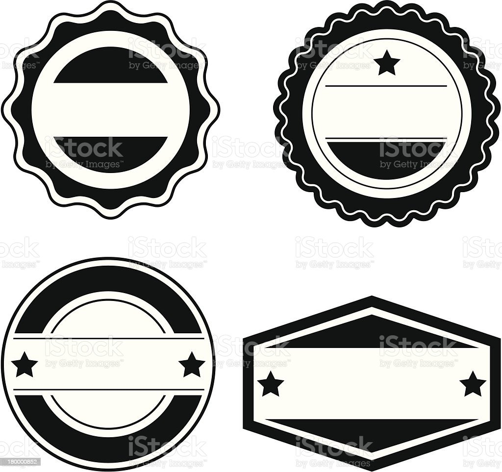 Seal Design Elements - VECTOR royalty-free stock vector art