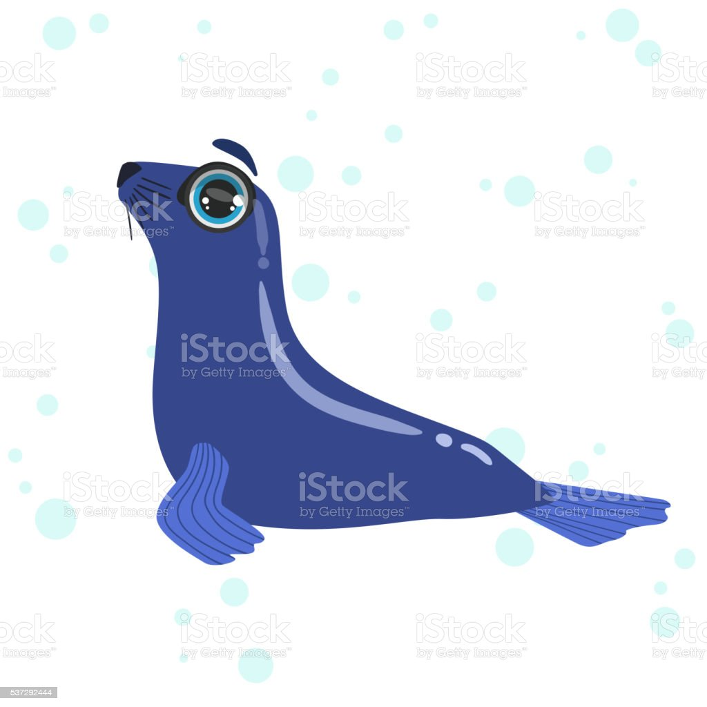 Seal Isolated Drawing vector art illustration