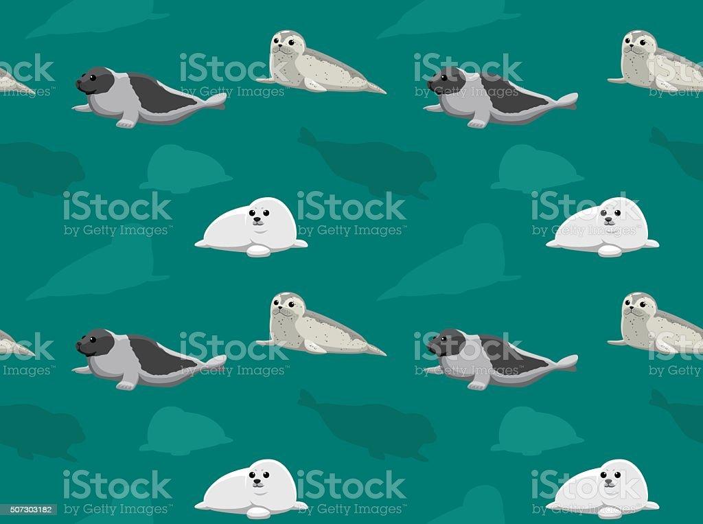 Seal Wallpaper 3 vector art illustration