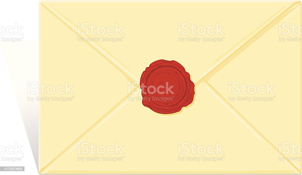 Sealed Love Letter Icon royalty-free stock vector art
