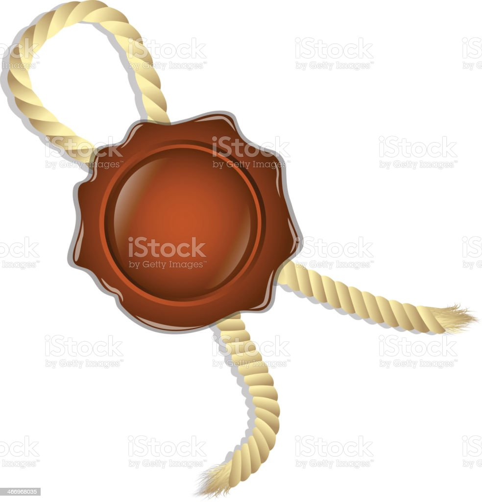 sealing wax with a rope royalty-free stock vector art