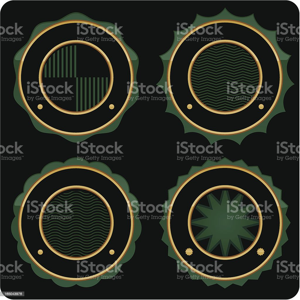 Seals - Green royalty-free stock vector art