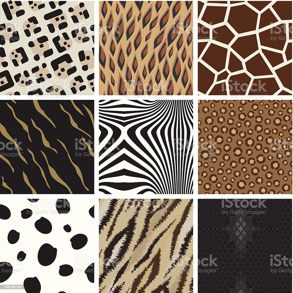 Seamless abstract animal background pattern vector art illustration
