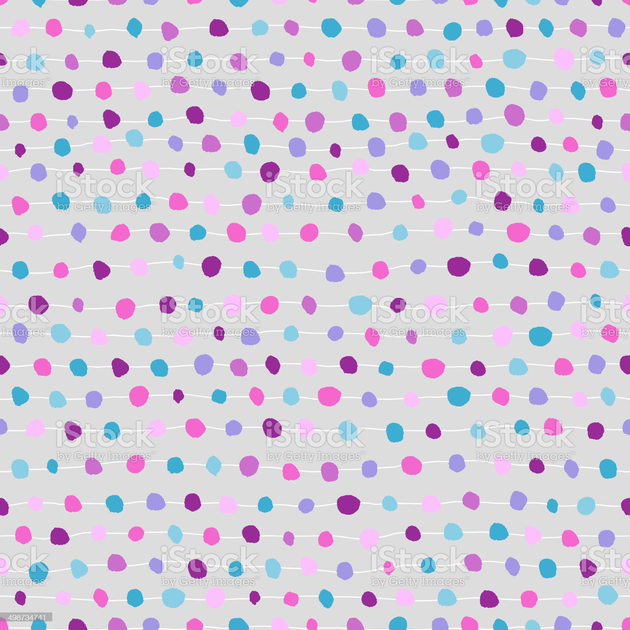 Seamless abstract background of dots and strips royalty-free stock vector art