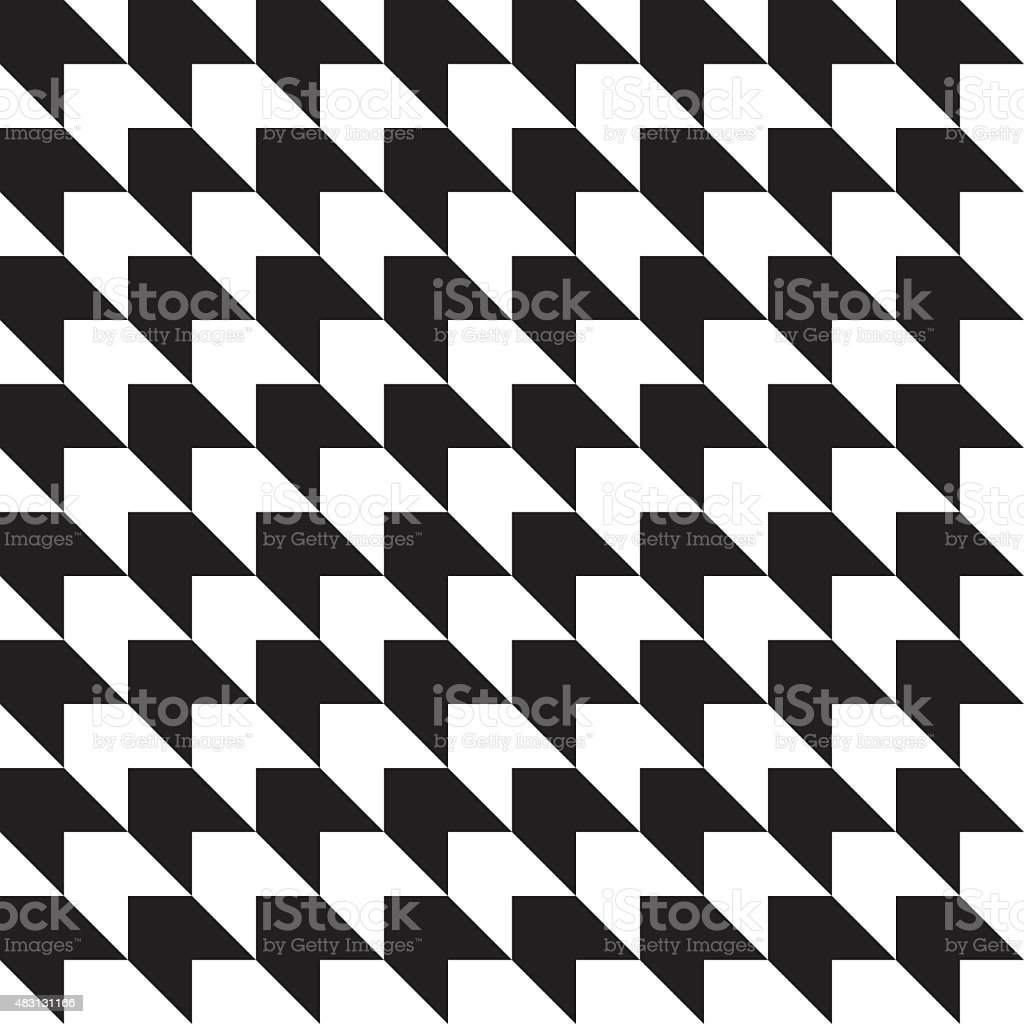 Seamless abstract black and white geometric background vector art illustration