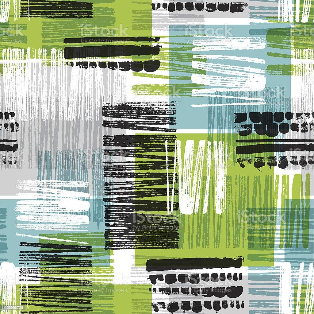 Seamless Abstract Block Print Pattern royalty-free stock vector art