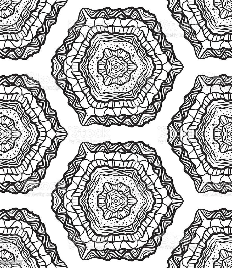 Seamless Abstract Hand Drawn Vector Pattern vector art illustration