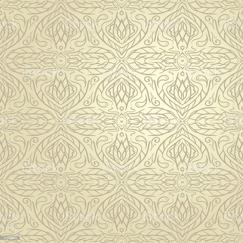 Seamless Abstract Hand Drawn Vector Pattern royalty-free stock vector art