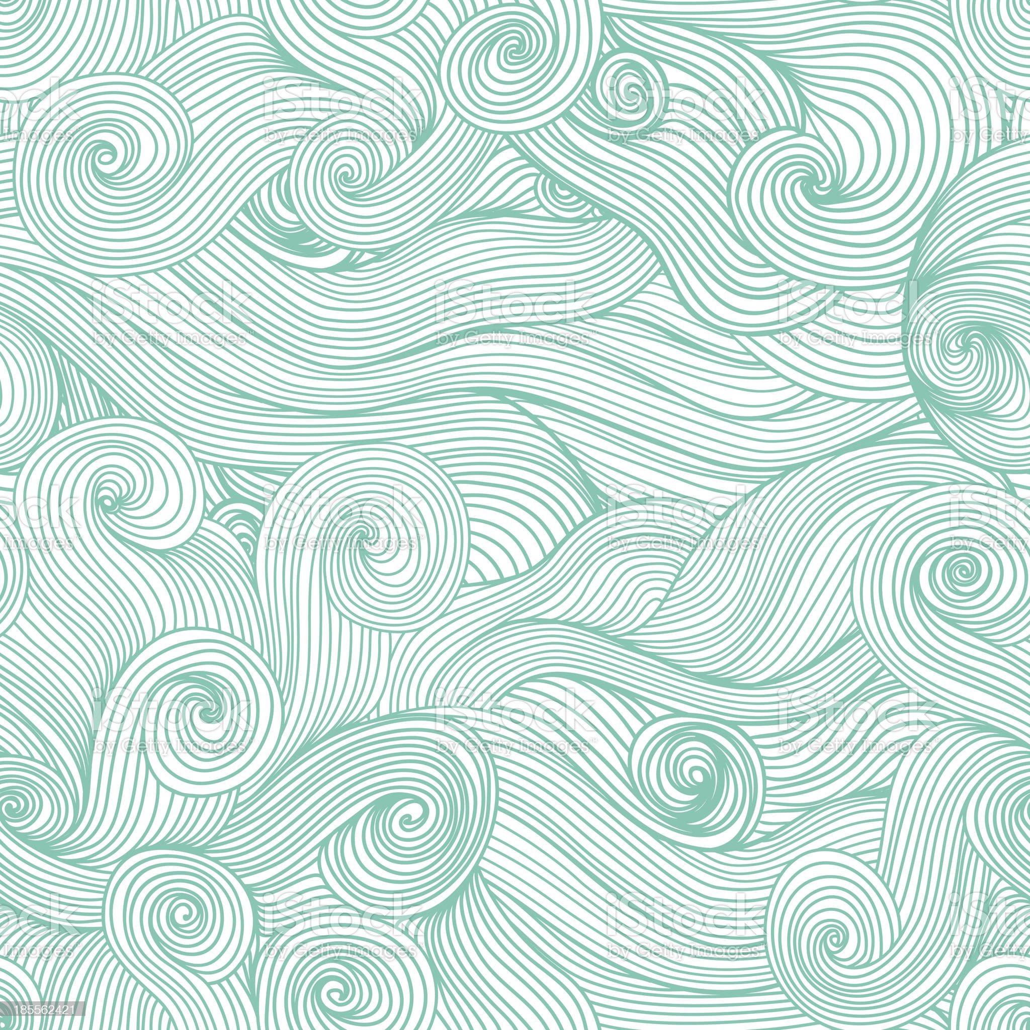 Seamless abstract hand drawn wave royalty-free stock vector art
