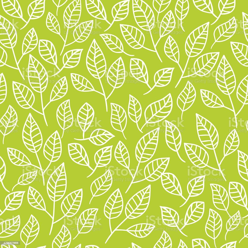 Seamless abstract hand-drawn floral background. vector art illustration