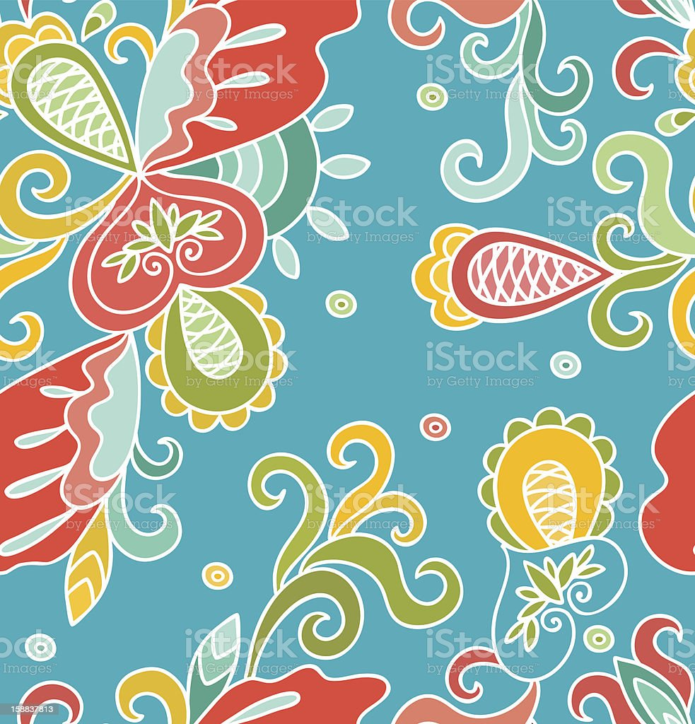 Seamless abstract hand-drawn pattern. royalty-free stock vector art