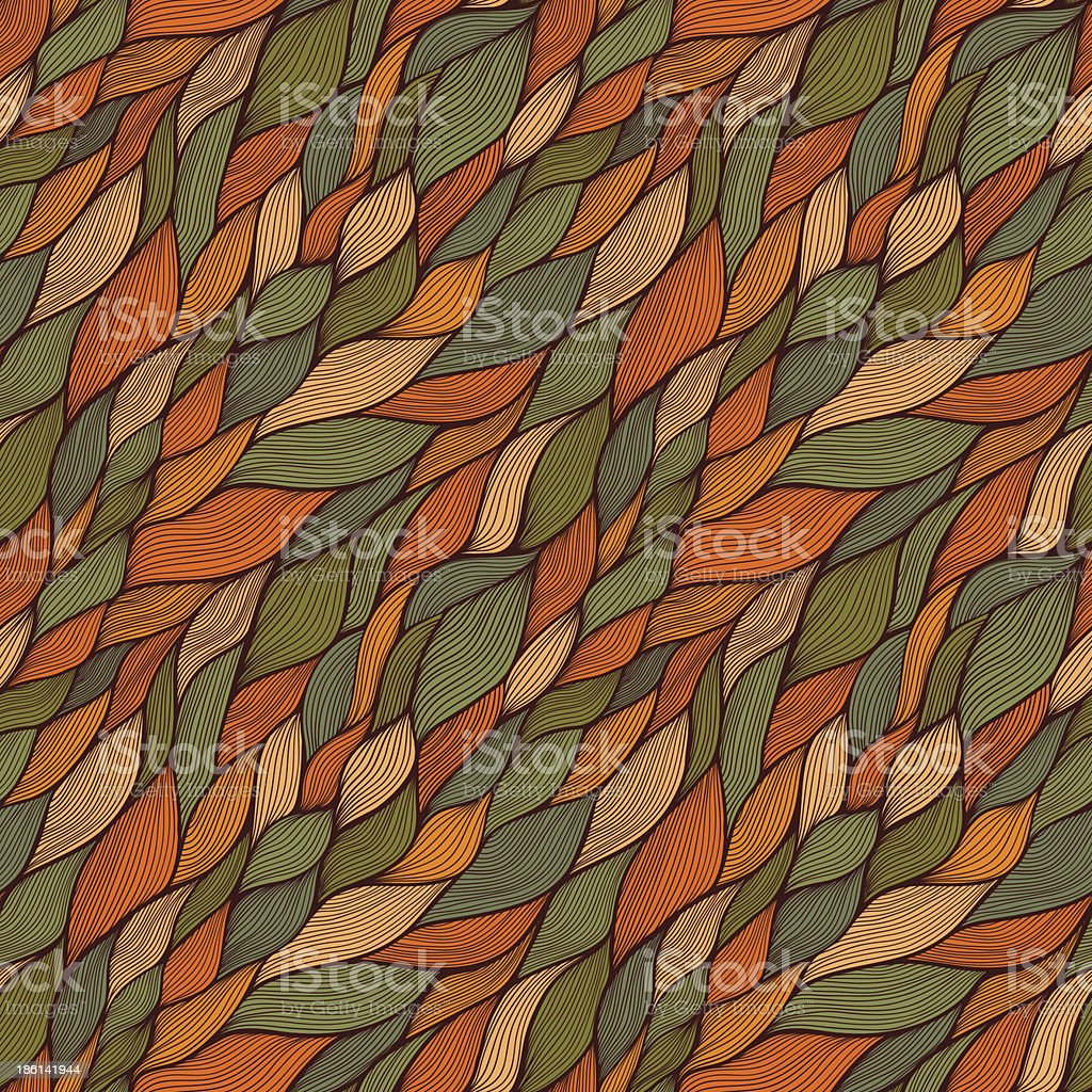 seamless abstract hand-drawn pattern, waves background vector art illustration