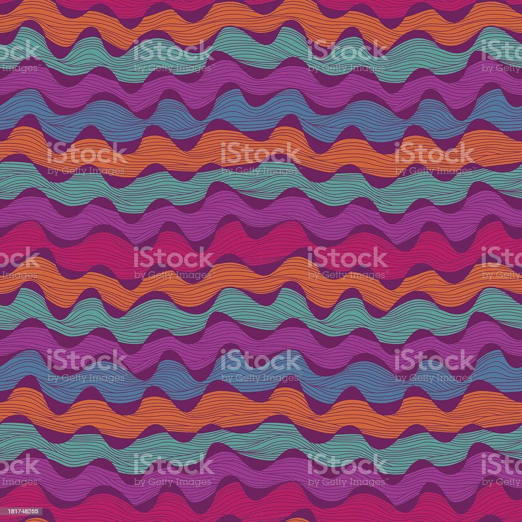 Seamless abstract hand-drawn waves royalty-free stock vector art