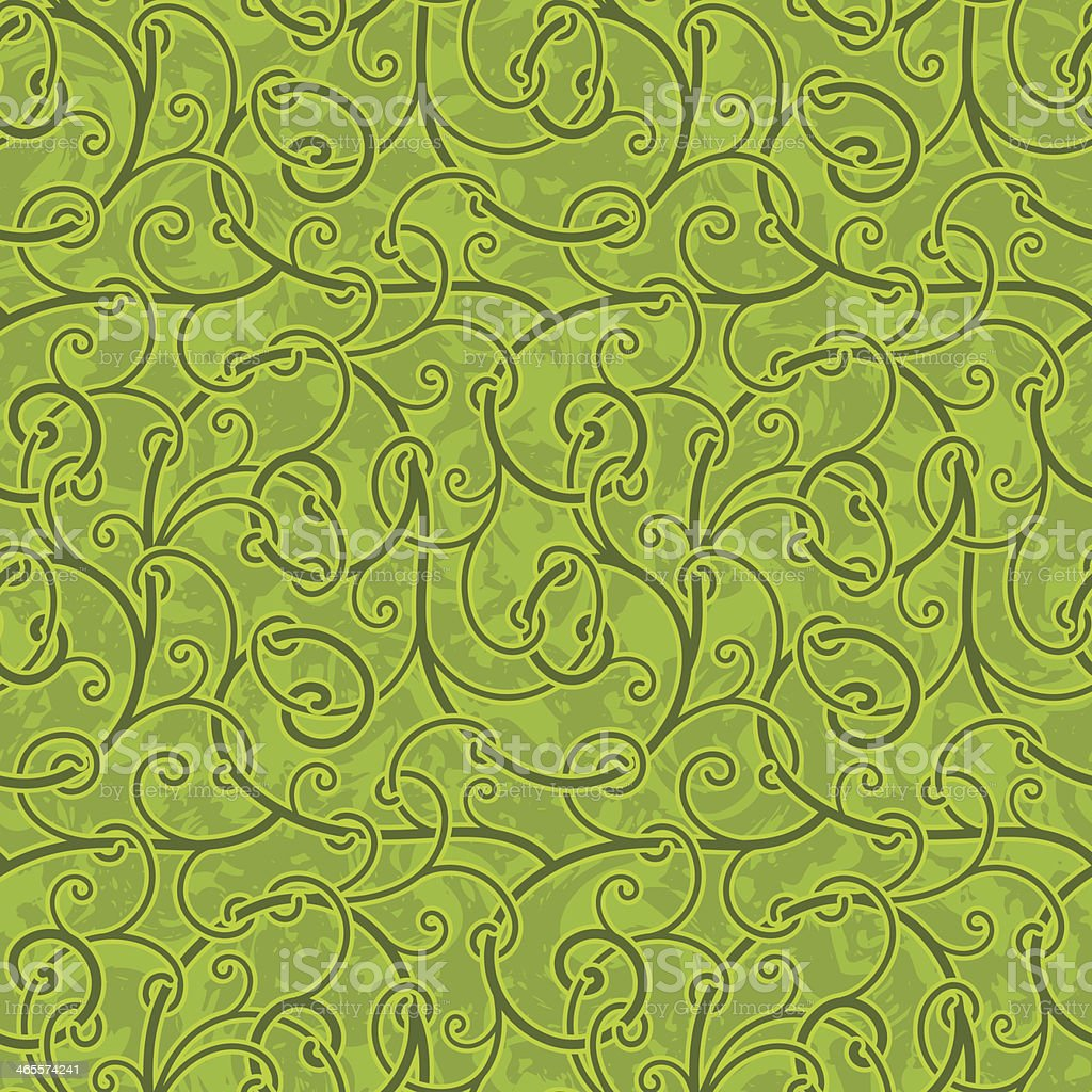 Seamless abstract liana twisted tendril background royalty-free stock vector art