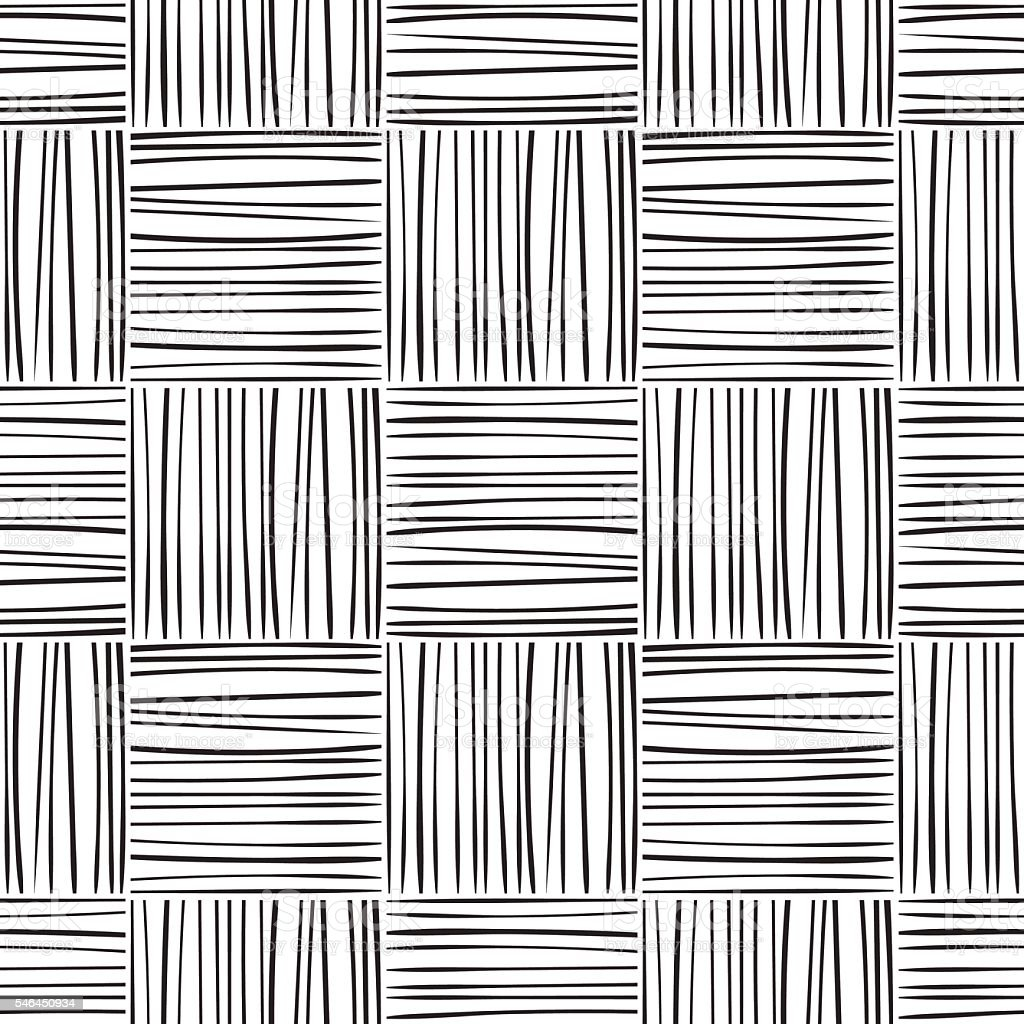 Seamless abstract line pattern vector art illustration