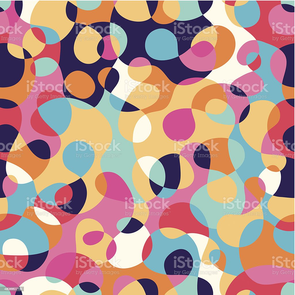 Seamless abstract multicolored pattern royalty-free stock vector art
