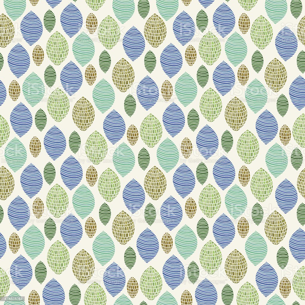Seamless abstract pattern with mosaic tiled elements vector art illustration