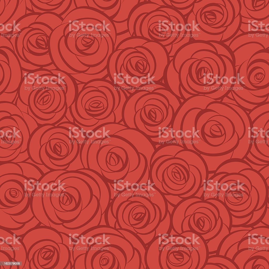 Seamless abstract red roses background royalty-free stock vector art