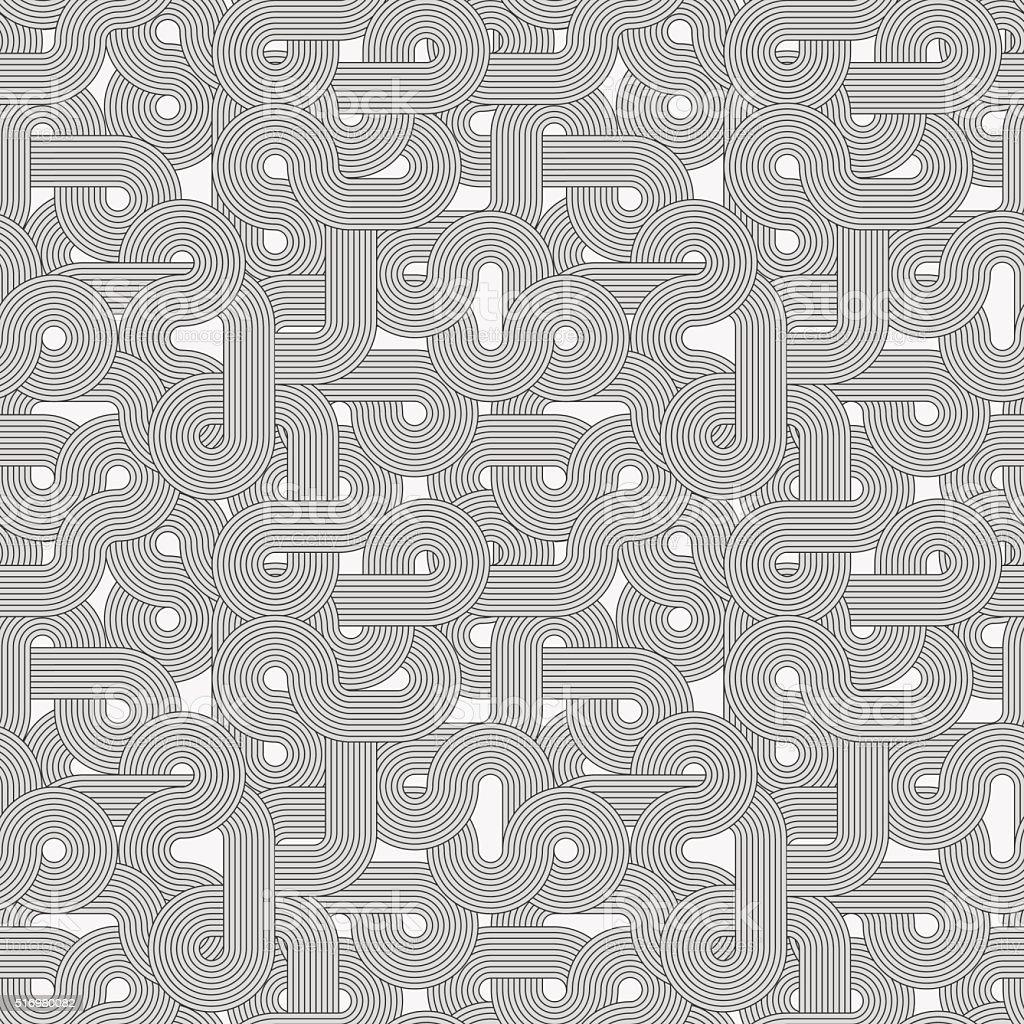 Seamless abstract retro lines pattern vector art illustration