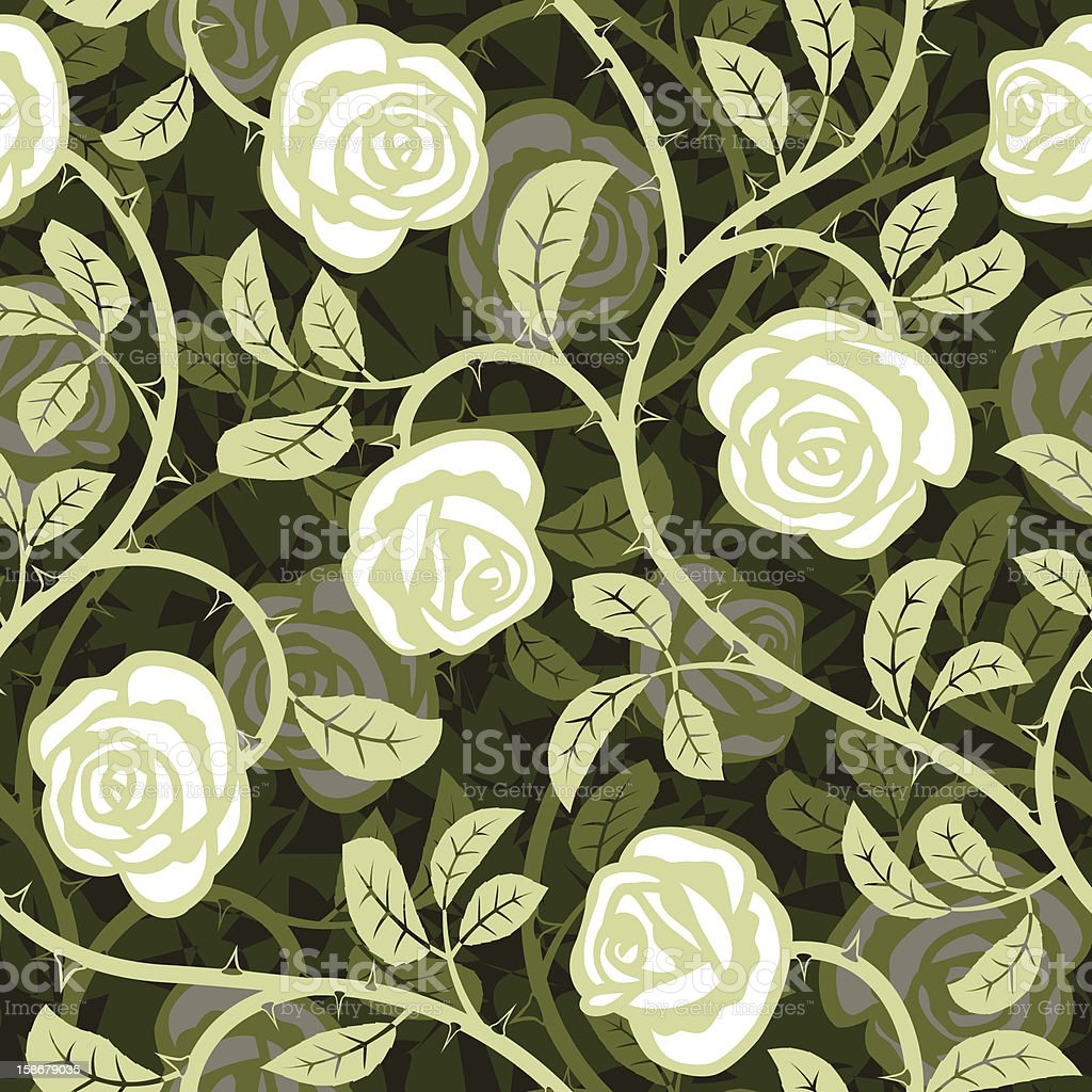 seamless abstract rose white background royalty-free stock vector art