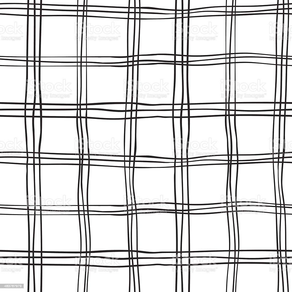 Seamless Abstract Scottish Plaid vector art illustration