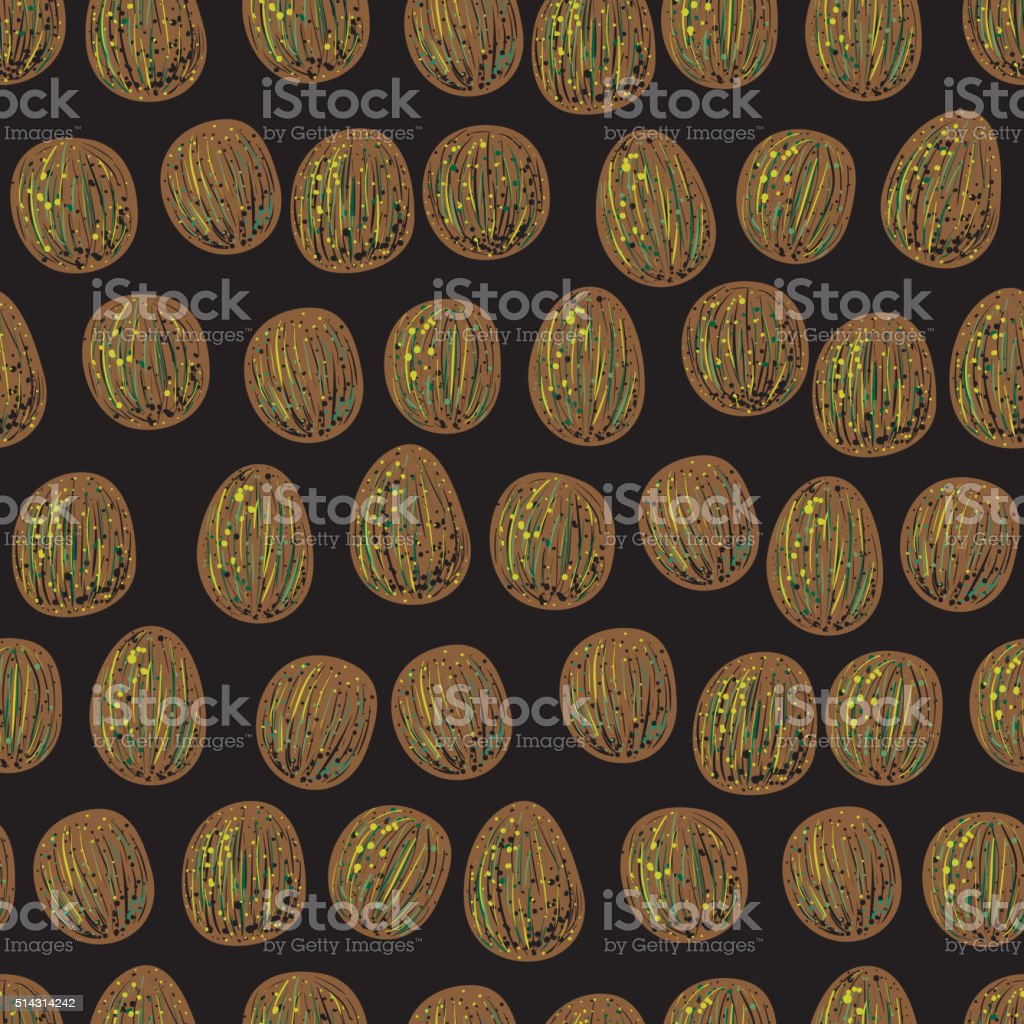 Seamless abstract summer pattern with avocado pits vector art illustration