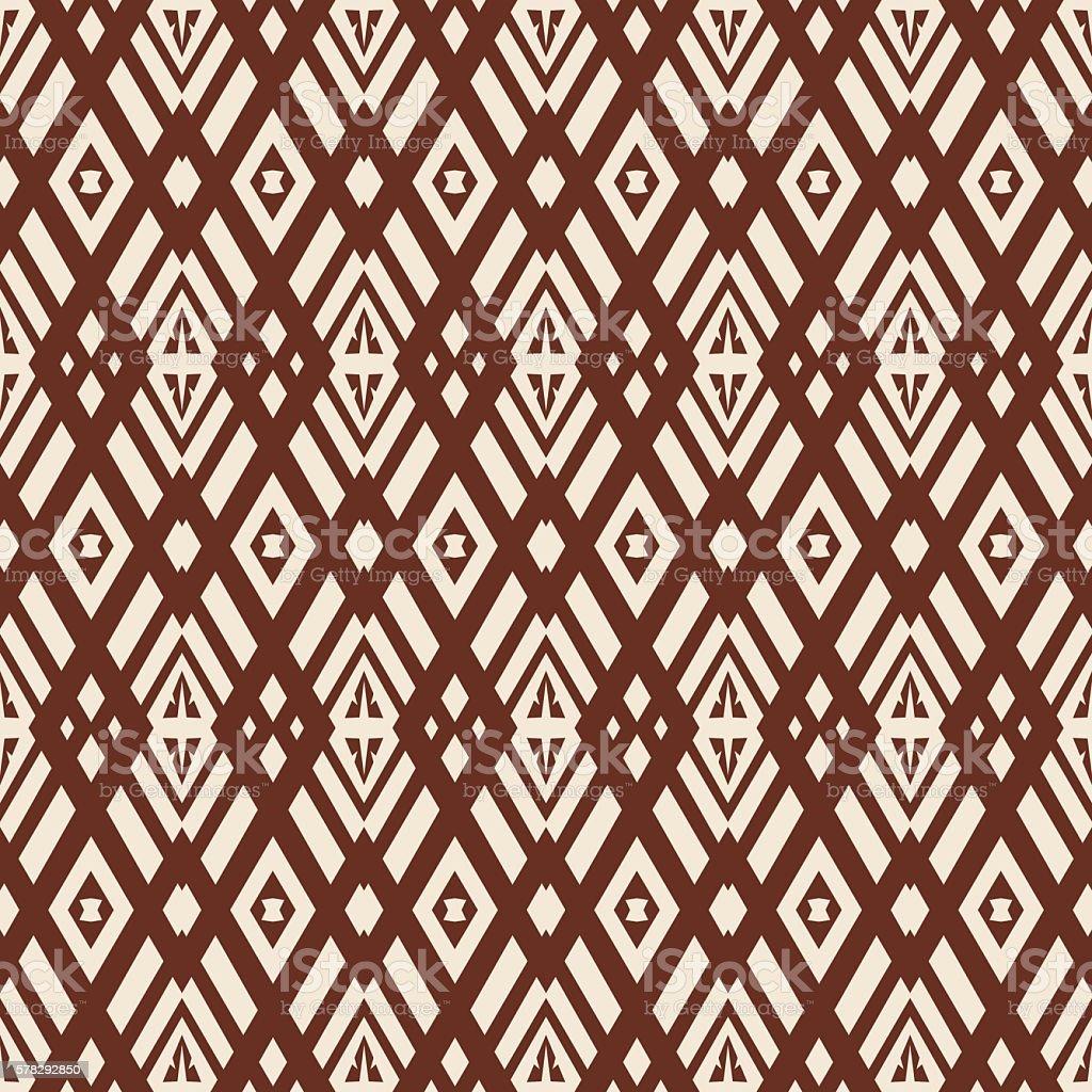 Seamless abstract vector texture pattern ethnic style background vector art illustration