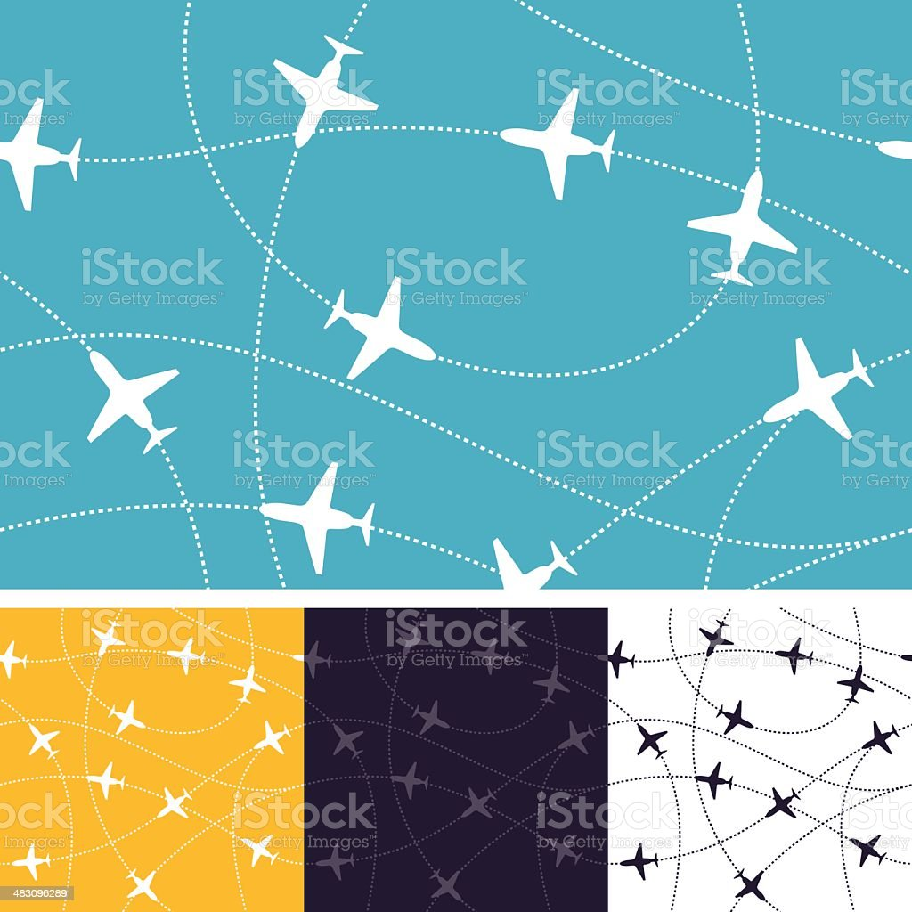 Seamless Air Travel vector art illustration