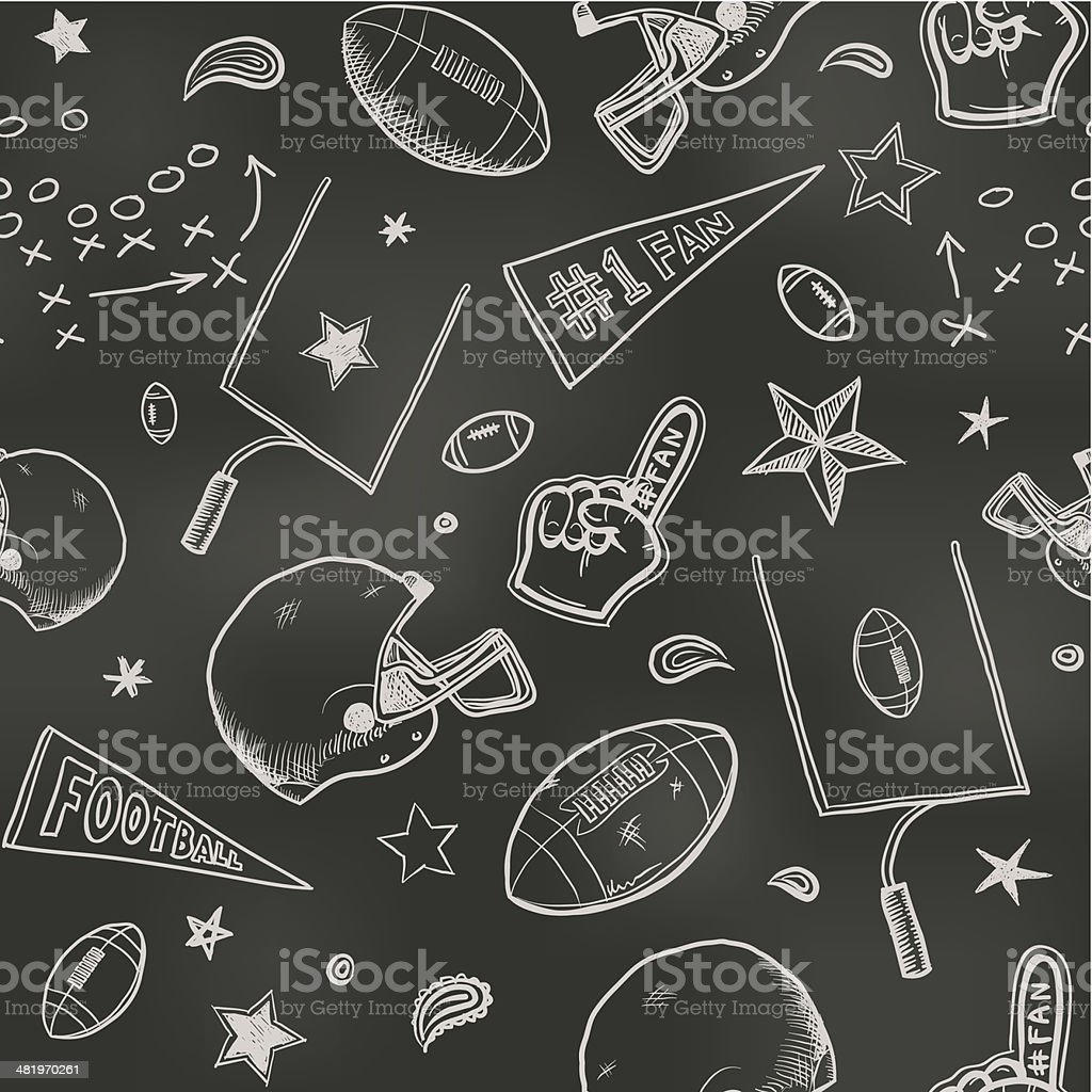 Seamless American football background vector art illustration