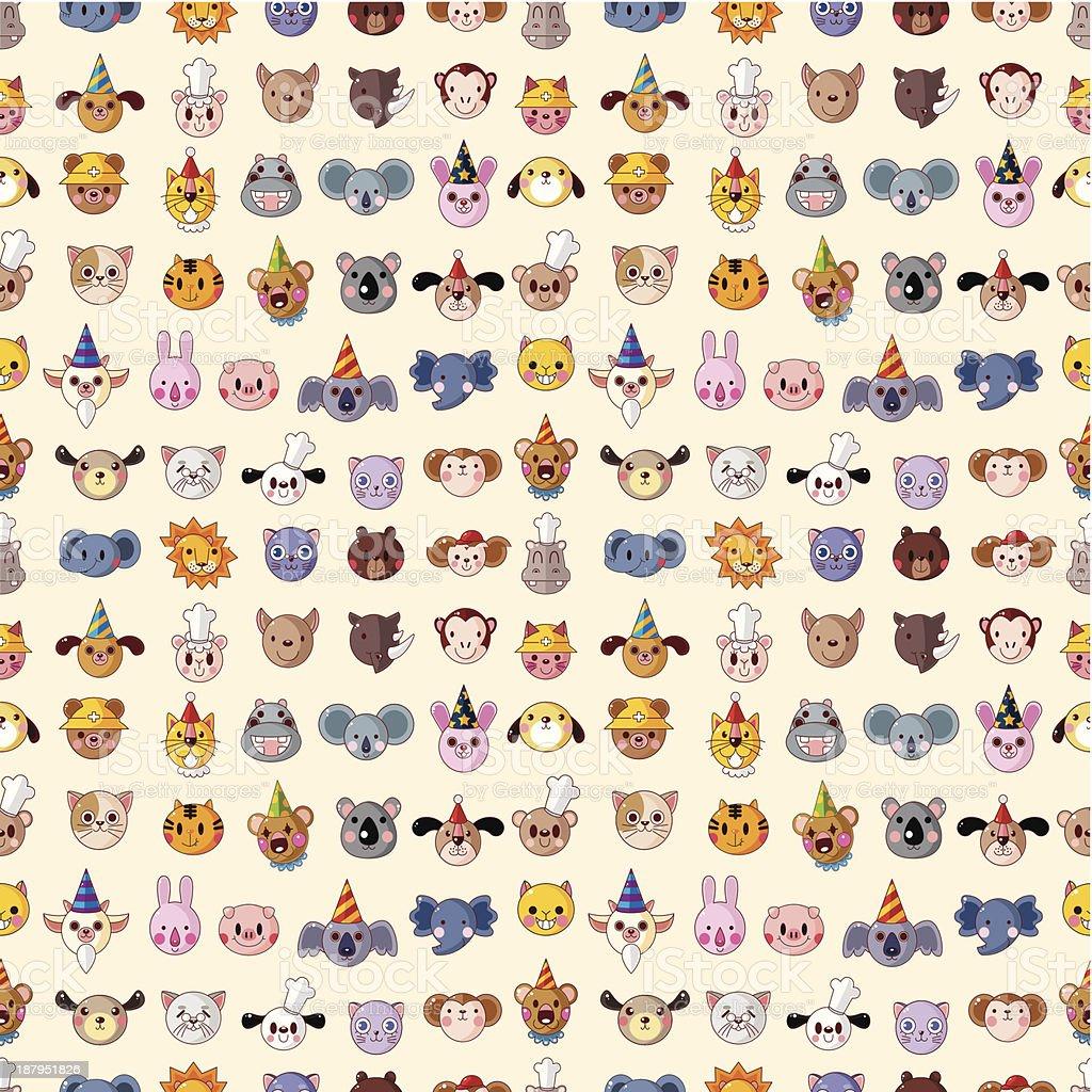 seamless animal face pattern royalty-free stock vector art