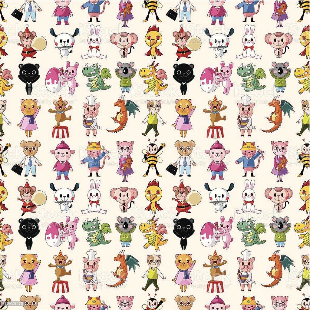 seamless animal pattern royalty-free stock vector art