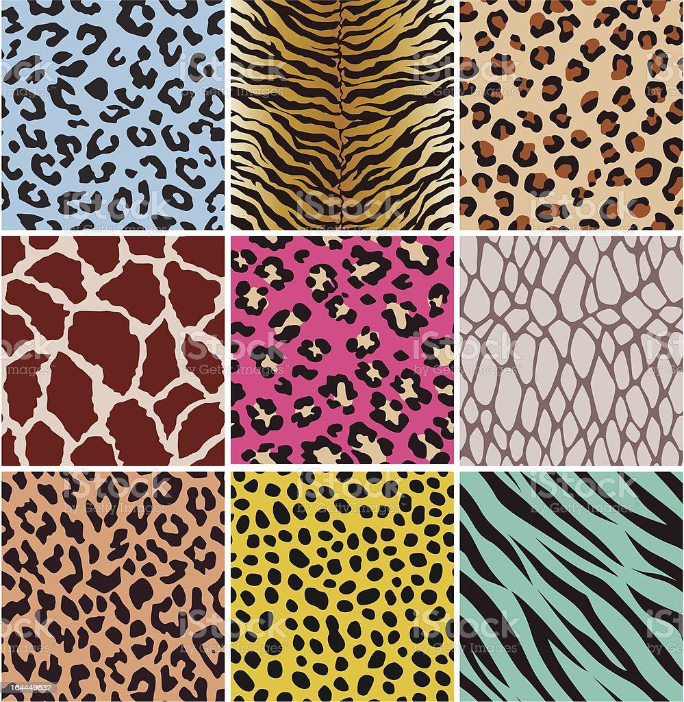 seamless animal skin pattern vector art illustration