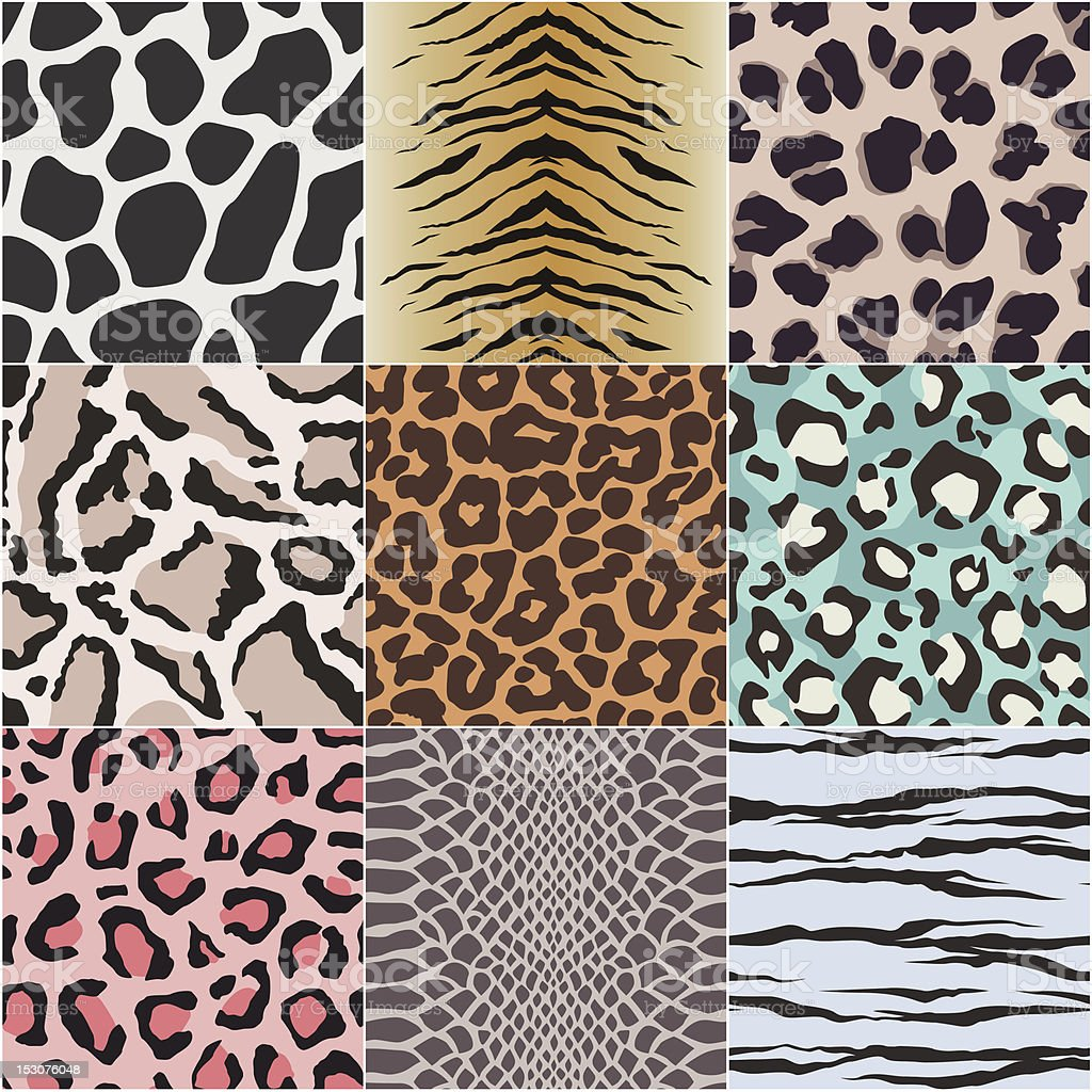 seamless animal skin vector art illustration