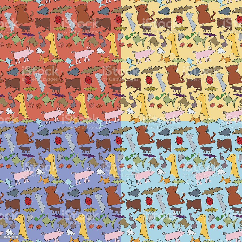 Seamless Animals Pattern royalty-free stock vector art