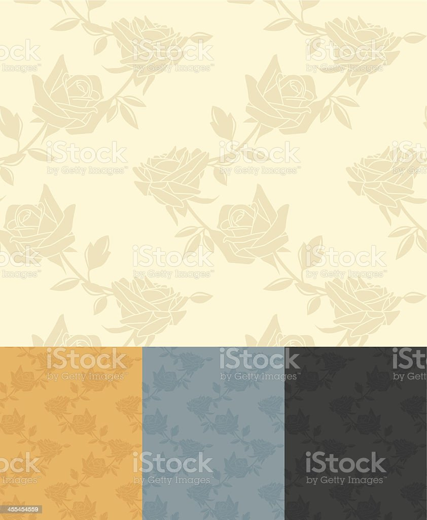 Seamless Antique Rose Background royalty-free stock vector art