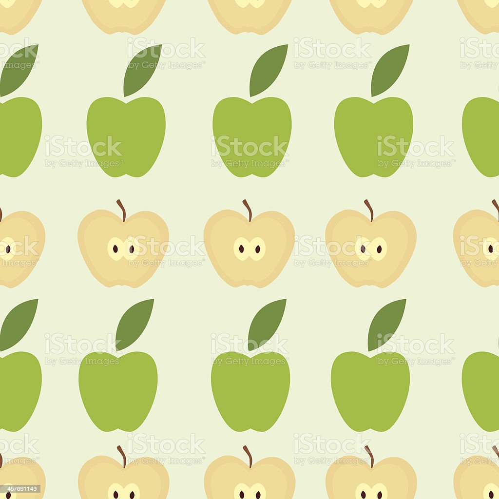 Seamless apple background - vector pattern royalty-free stock vector art