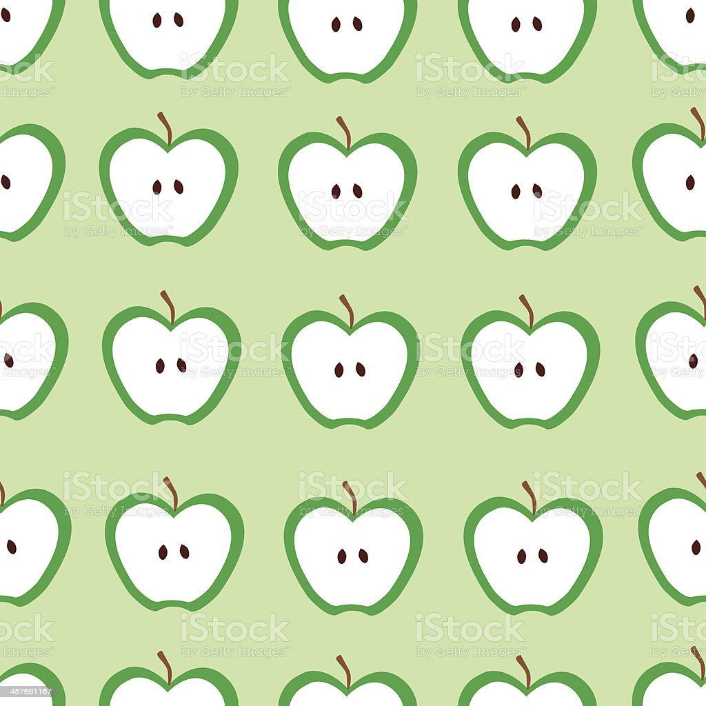 Seamless apple background,vector pattern royalty-free stock vector art