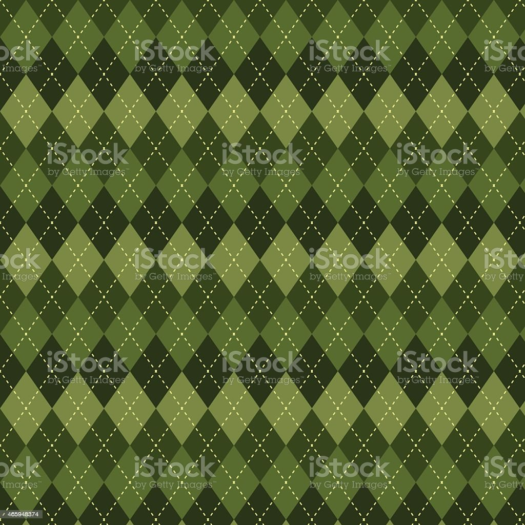 Seamless argyle pattern. vector art illustration