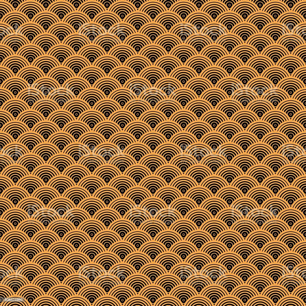 Seamless Art Deco Pattern Wallpaper Background vector art illustration