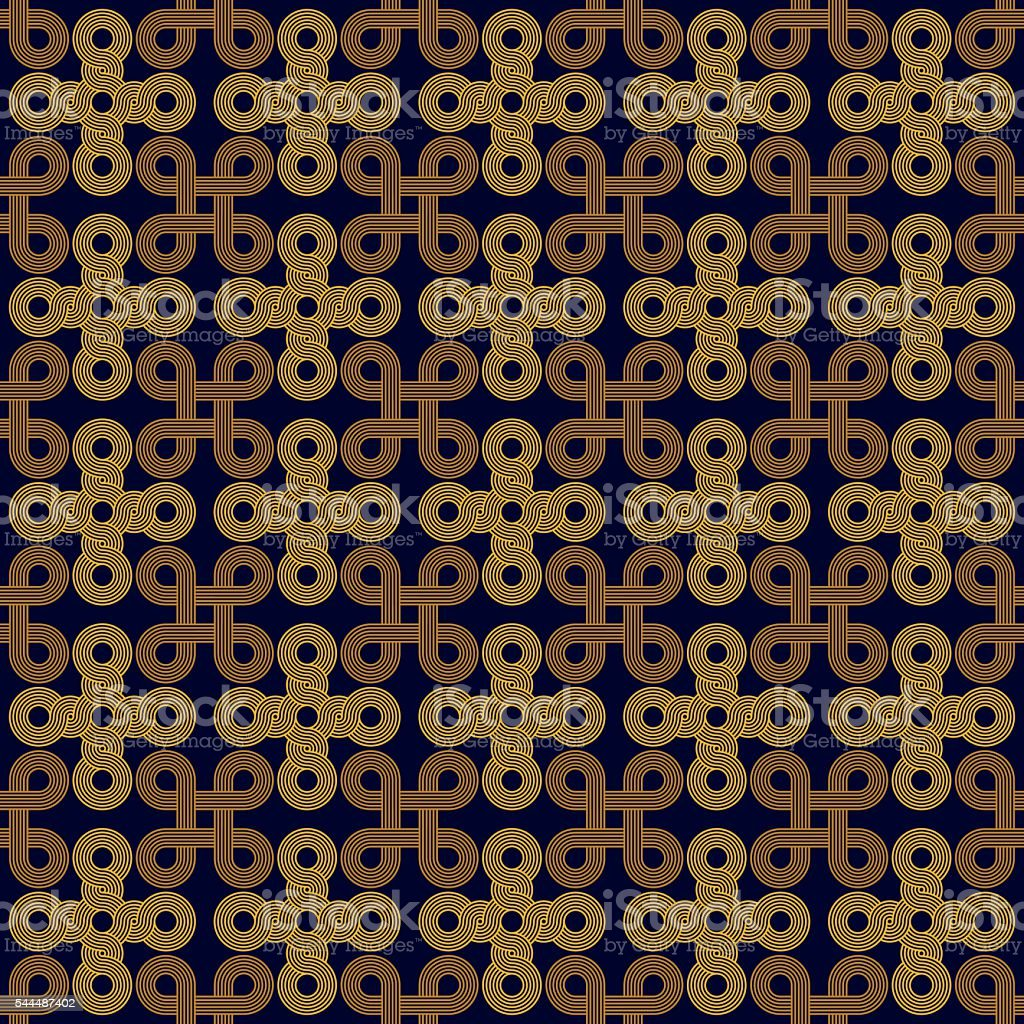 Seamless Art Deco rope cord knot background texture pattern vector art illustration