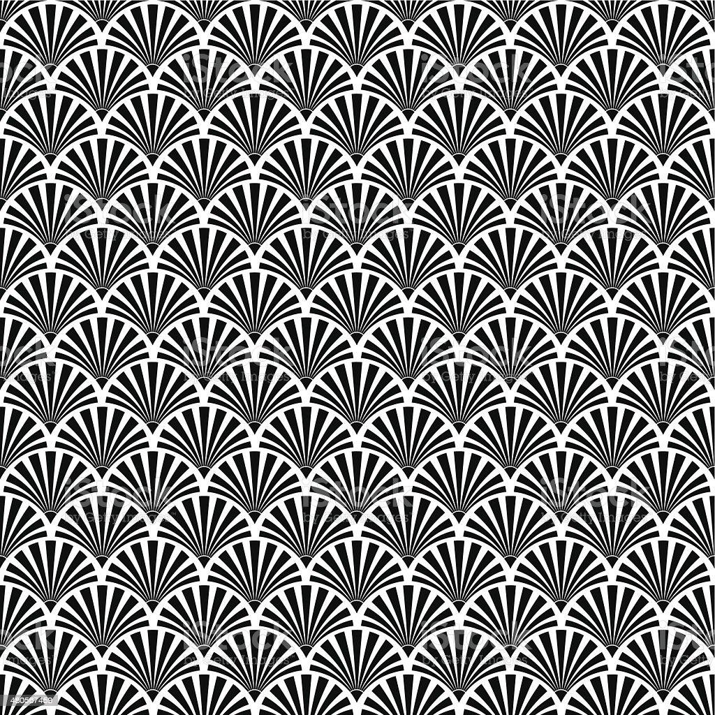 Seamless Art Deco Texture vector art illustration