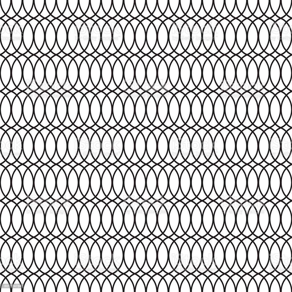 Seamless Art Deco Tracery Trellis Pattern Background vector art illustration