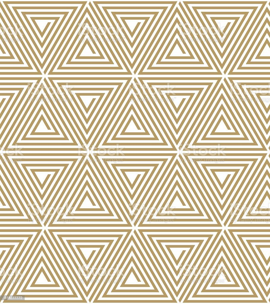seamless art deco triangle spiral pattern. vector art illustration
