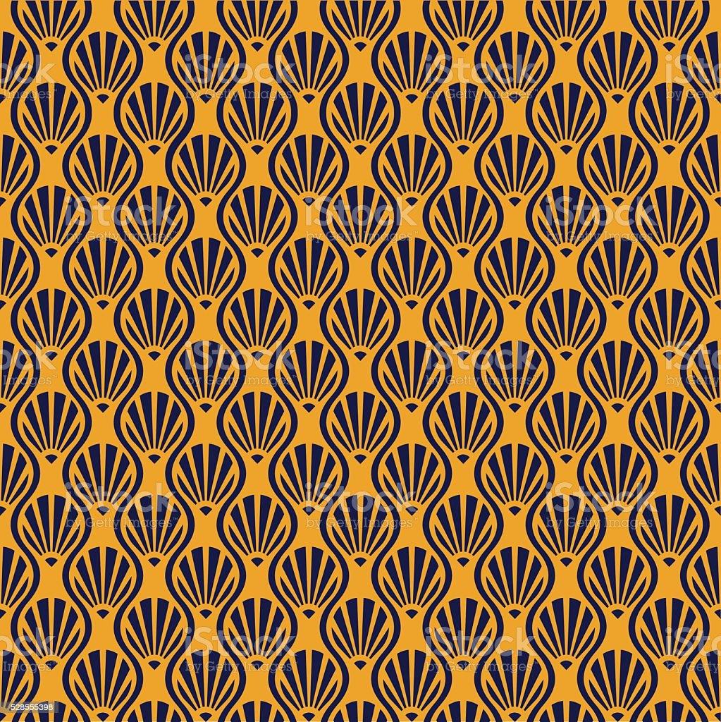Seamless Art Deco Vector Pattern vector art illustration